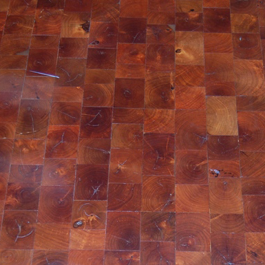 end grain mesquite wood floor