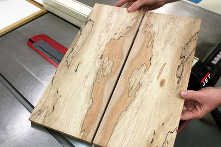 book-matched panels by woodworkersjournal.com